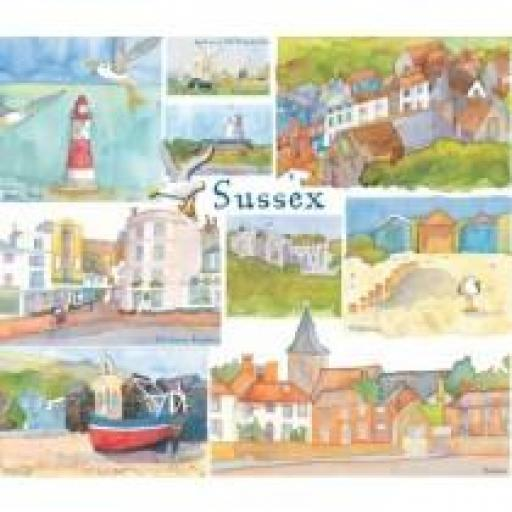 Emma Ball Sussex Packed Coasters (4 pack)