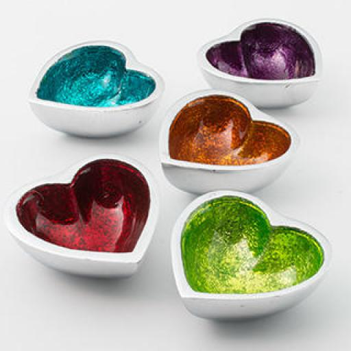 Small Foil Recycled Aluminium Heart Dish