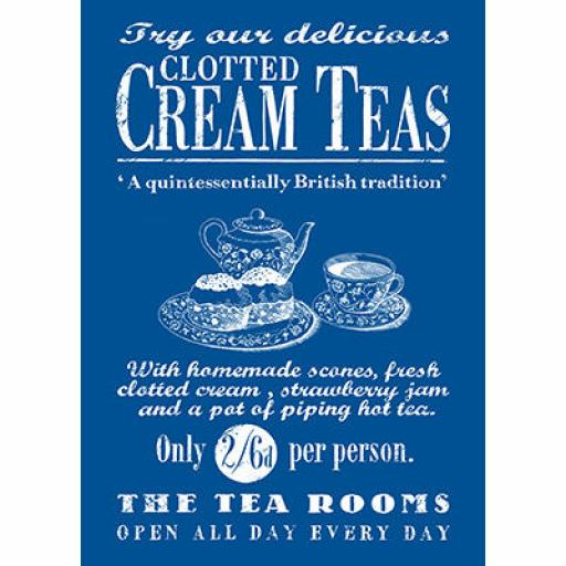 By the Sea Clotted Cream Teas Tea Towel