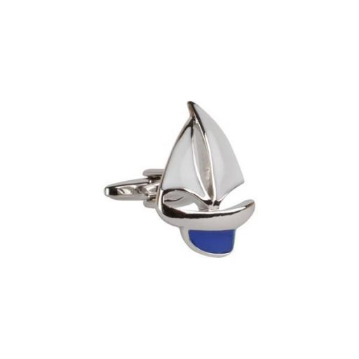 Cufflinks - Blue Yacht